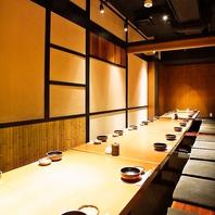 神田駅、最大28名様の完全個室完備