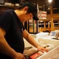 旬魚・鮮魚を職人が丁寧に一品一品捌きます