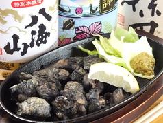 宮崎地鶏の炙り鉄板焼き