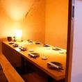 プライベート宴会などに!コンパにもぴったりの掘りごたつ個室!ゆっくりお食事をご堪能下さい。