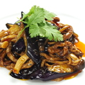 料理メニュー写真茄子と牛肉の四川スタミナ炒め