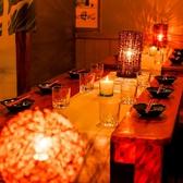 接待など少人数からご利用いただけるお席多数ございます!ゆっくりしたお話をされたいときや、静かにお食事を楽しみたい方など、プライベートなお時間を過ごされたい方にぴったりです★ご希望、ご要望等はお気軽にご相談下さい◎個室に関してはお早目のご予約をオススメ致します。