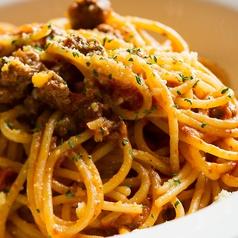 料理メニュー写真自家製ミートソーススパゲティー