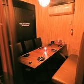 半個室★【1階】の2~名様個室。【1階】は、カップル2名個室を始め、4名、6名、8名、10名、12名様用の各個室完備。【2階】は20名~45名までご宴会可能な個室パーティースペース。女子会、合コン、デートに◎