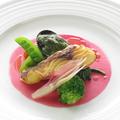 料理メニュー写真鯛のポアレと大野産ムールのコソーバター和え