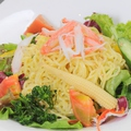料理メニュー写真ラーメンサラダ/寄せ豆腐サラダ