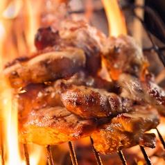 料理メニュー写真筑前赤鶏の炭火あぶり