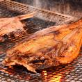 厳選素材を炭火で炙った自慢の干物をお楽しみください。