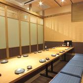 団体様の席とは少し離れた完全個室。静かに愉しみたい団体様にオススメ。