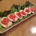 料理メニュー写真蒸鶏のサラダ