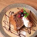 料理メニュー写真シフォンケーキのフルーツサンド