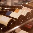 毎月変わるおすすめワインも常時4種類以上