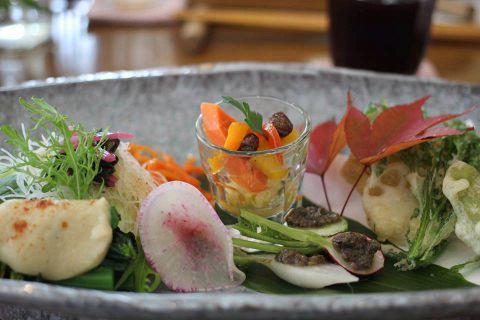 那須野菜ディナーコース4000円(6品)