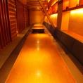 60名様までご案内できる掘りごたつ個室。大きな宴会にピッタリの空間です。