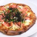 料理メニュー写真じゃがいもと明太子のピザ