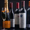 定番のビールや、お肉とワインの組み合わせなど、お酒の種類も豊富☆