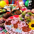 誕生日のお祝いはお任せください♪当店自慢のサプライズプレートで素敵なお誕生日を演出いたします☆大人気のサービスですのでご予約はお早めに!