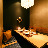 2名様~6名様個室。デートや接待、御祝いの場などに最適な少人数向け個室。2名様から個室でご案内させて頂きます。当店こだわりの料理と共にゆったりお使いください。