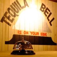 テーブル上のベルに注意!!テキーラ注文専用のベルです!!