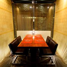 【半個室】飲み会・接待などのプライベートシーンに♪ゆったり4名様席です。