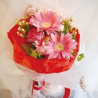 +3240円で素敵な花束をご用意します!