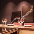 楽しいお食事の時間を過ごしていただくために、オーナー自らデザインに携わり、こだわり抜いたカウンター席。記念日や接待など特別な日にオススメです!
