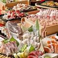 【旬の食材を使用したコースがおススメ!!】毎日、自社養鶏場より直送の当店自慢の鶏料理をはじめ、「黒さつま地鶏」「黒豚」「馬肉」「鮮魚」とこだわりの食材を使用。季節ごとに旬の食材を使用したメニューに入れ替えています。宴会・接待・記念日など様々なシーンでご利用ください!