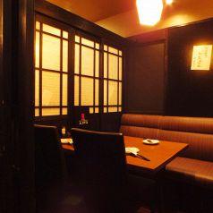 プチ宴会や少人数飲み会にオススメです2~4名様個室×3 6~7名様個室×2 10名以上の個室も!