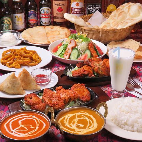 駅から徒歩1分の好立地☆インド・ネパール料理をご堪能!テイクアウトもOK♪