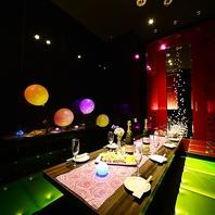 落ち着いた雰囲気が自慢のシックな完全個室空間・・・。