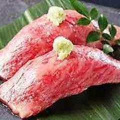 A5黒毛和牛の炙り寿司(二貫)