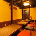 プライベート感たっぷりの掘りごたつ式の個室も有り。仕事帰りの飲み会にも最適★