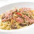 料理メニュー写真スパゲッティ 生ハムのペペロンチーノ