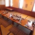 宴会の際は、テーブルもしっかりセットしてお待ちしております。
