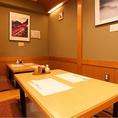 テーブル席8名 掘りごたつ座敷20名の34名程度まで可能です。