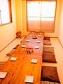 8名様~貸切可能な2階席。会社の宴会やママ会まで利用用途は様々。プライベート空間をお楽しみください。