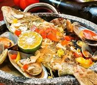新鮮な魚を使った料理!