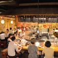 【自慢のカウンター席】迫力のある厨房と活気のある屋台を味わえる特別なお席です!!