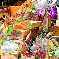 【八州の魚料理】…お造り・薩摩灰干し料理など