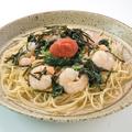 料理メニュー写真スパゲッティ 小海老とほうれん草の明太子風味