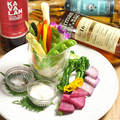 料理メニュー写真彩り野菜のスティックサラダ