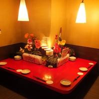 優しい雰囲気の個室はプライベート感満載!4名様までOK