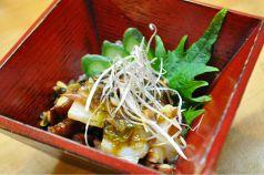 料理メニュー写真クリームチーズの醤油漬け/漬け物盛り合わせ/ヨリエビ塩茹でor唐揚げ/チャンジャ