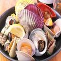 料理メニュー写真貝イロイロ塩ゆで盛り合わせ