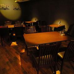 テーブルはレイアウト自由なため、2名様~団体様までお気軽にお立ち寄り頂けます。歓送迎会など各種宴会にご利用ください。