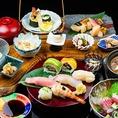 2階席をご利用のお客様限定、握り寿司や巻き寿司の盛り合わせや煮込みなどの多彩なお料理をお楽しみ頂ける【夜の握りコース】を5000円(税抜)でご用意。別途料金で飲み放題プランをお付け致します。