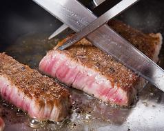 【黒毛和牛赤身ステーキ1580円】美味しく焼き上げます。