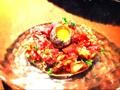 料理メニュー写真和牛の辛味噌ユッケ