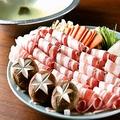 料理メニュー写真黒豚のしゃぶしゃぶ (うどん付き)