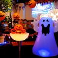 年々盛り上がりを見せる渋谷のハロウィン。10月はハッピーハロウィン月間と称して、店内を可愛く飾り付け。足りなければ、お客様による飾り付けももちろんご自由に☆